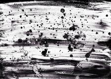 Bakgrund för utdragen abstrakt grunge för hand festlig Svartvit textur med färgstänk av akryl- eller oljamålarfärg royaltyfri fotografi