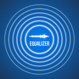 Bakgrund för utjämnare för vektorpulsmusik Ljudsignal vågutjämnare Fotografering för Bildbyråer