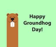 Bakgrund för utrymme för kopia för Groundhog dag royaltyfri illustrationer