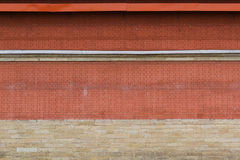 Bakgrund för vägg för röd tegelsten Royaltyfri Fotografi
