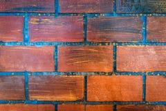Bakgrund för vägg för röd tegelsten för textur Arkivbilder