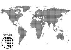 Bakgrund för världsöversikt Arkivfoton