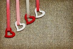 Bakgrund för valentin dag i en lantlig stil Royaltyfri Bild