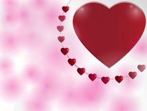 Bakgrund för valentin dag med hjärtor. Royaltyfri Fotografi