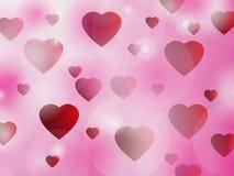 Bakgrund för valentin dag med hjärtor. Arkivbild
