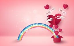 Bakgrund för valentindagförsäljningen med hjärta formade ballonger och cl vektor illustrationer