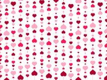 Bakgrund för valentindaghjärta Arkivfoto