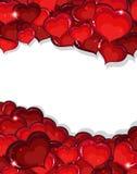 Bakgrund för valentindaghjärtor Fotografering för Bildbyråer