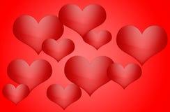 Bakgrund för valentindagkort med hjärtavektorillustrationen Arkivfoto