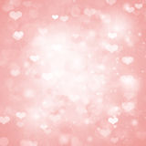Bakgrund för valentindagrosa färger Arkivfoto