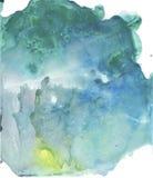 Bakgrund för vattenfärg för färgstänk för abstrakt hand för turkos utdragen Måla texturstylefish Lutningfärger Iseffekt arkivfoto