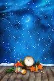Bakgrund för vattenfärg för julnatt royaltyfri illustrationer