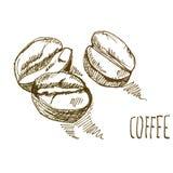 Bakgrund för vattenfärg för kaffekornpapper, härlig idérik planet royaltyfri illustrationer
