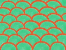 bakgrund för vattenfärg för kurva för abstrakt begrepp för Mjuk-färg tappningpastell med kulöra skuggor av orange och grön färg,  royaltyfri illustrationer