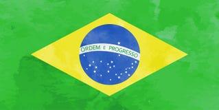 Bakgrund för vattenfärgBrasilien flagga Vektorillumration eps10 royaltyfri illustrationer