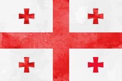 Bakgrund för vattenfärgGeorgia flagga Vektorillumration eps 10 royaltyfri illustrationer