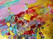 Bakgrund för vattenfärgmålarfärgabstrakt begrepp i guld- färger Royaltyfri Foto