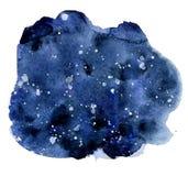 Bakgrund för vattenfärgnatthimmel, hand dragen akvarelltextur Arkivbilder