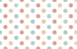 Bakgrund för vattenfärgrosa färg-, beiga- och blåttprick Arkivbild