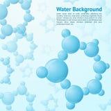 Bakgrund för vattenmolekylar royaltyfri illustrationer
