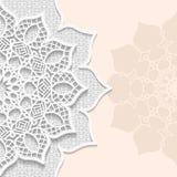 Bakgrund för vektor 3D, festlig modell som utföra i relief, pappers- kort för alace, arabisk garnering stock illustrationer