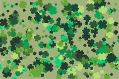 Bakgrund för vektor för dag för St Patrick ` s design tecknad elementhand För inbjudan kort också vektor för coreldrawillustratio arkivfoton