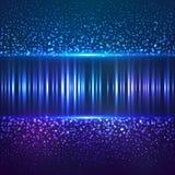 Bakgrund för vektor för abctract för damm för blå stjärna Arkivbild
