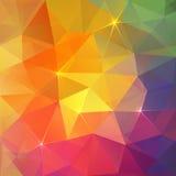 Bakgrund för vektor för abstrakt triangelis färgrik vektor illustrationer