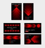 Bakgrund för vektor för affärskort Arkivbilder
