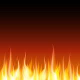 Bakgrund för vektor för brännskadaflammabrand Arkivfoto