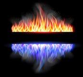 Bakgrund för vektor för brännskadaflammabrand Arkivfoton