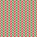 Bakgrund för vektor för godisrottingar Sömlös xmas-modell med röda, gröna och vita band för godisrotting Royaltyfri Bild