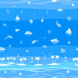 Bakgrund för vektor för tropisk strandsemester sömlös Royaltyfri Foto