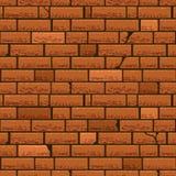 Bakgrund för vektor för vägg för röd tegelsten sömlös Royaltyfri Fotografi