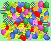 Bakgrund för vektor för många färgad easter ägg royaltyfri illustrationer