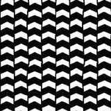 Bakgrund för vektor för sparrehand svartvit utdragen sömlös Monokromma pilar gör sammandrag modellen Upprepa bakgrunden vektor illustrationer