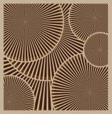 Bakgrund för vektorbruntabstrakt begrepp Abstrakta beigacirklar, hjul stock illustrationer
