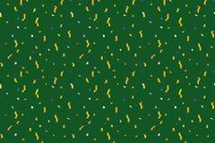 Bakgrund för vektorferiemodell Sömlös modell för grön vektor Sammansättning med slingrande, konfetti, stjärnor, exponeringar Arkivbilder