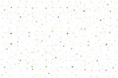Bakgrund för vektorferiemodell Sömlös modell för vit vektor Bakgrund med enkla former, cirklar, stjärnor, exponeringar Royaltyfri Fotografi