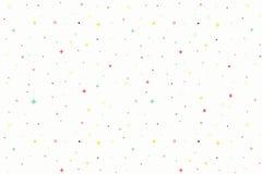 Bakgrund för vektorferiemodell seamless white för modell Bakgrund med enkla former, cirklar, stjärnor, exponeringar Arkivbild