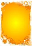 Bakgrund för vektorgrungecirkel i apelsin Royaltyfri Bild