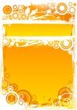 Bakgrund för vektorgrungecirkel i apelsin med den markerade titelstången Arkivfoto
