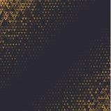 Bakgrund för vektorhalvtonabstrakt begrepp, svart guld- lutninggradering Den geometriska mosaiktriangeln formar den monokromma mo Arkivbilder