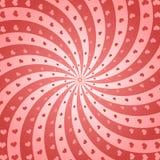 Bakgrund för vektorvirvelhjärta Arkivfoto
