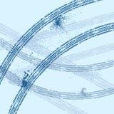 Bakgrund för vintergummihjulspår royaltyfri illustrationer