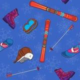 Bakgrund för vintersportar Fotografering för Bildbyråer