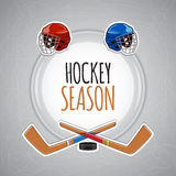Bakgrund för vintersportar Hockeysäsong Arkivfoto