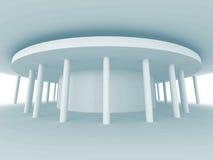 Bakgrund för vit för kolonnarkitekturdesign Royaltyfria Foton