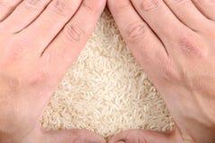 Bakgrund för vit rice Arkivbild