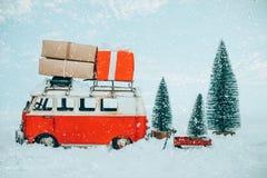 Bakgrund för vykort för glad jul för tappning royaltyfri foto